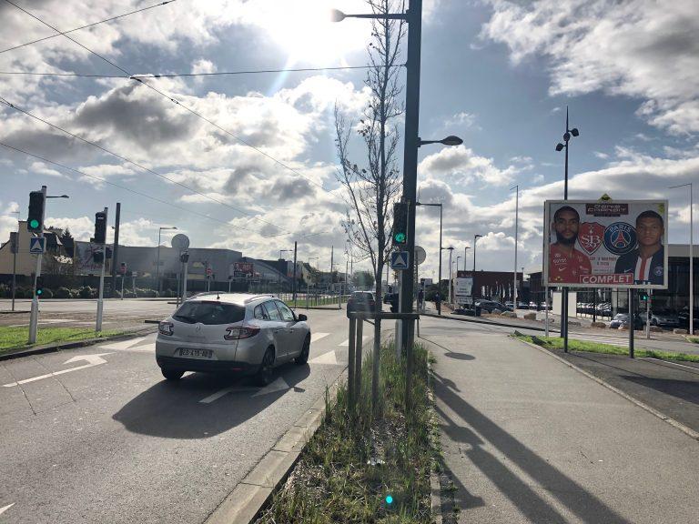 Panneau d'affichage publicitaire PSG Stade Brestois - Brest PAP