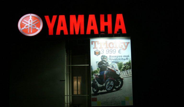 Publicité extérieur grand format pour Yamaha à Paris - PAP