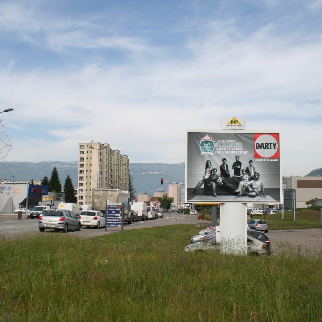 panneau publicitaire affichage longue conservation PAP