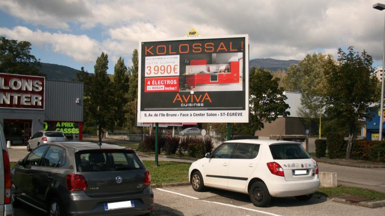 affichage publicitaire à Grenoble - PAP