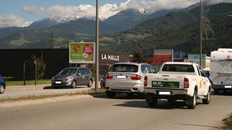 panneau publicitaire route Saint-Martin-d'Hères - PAP