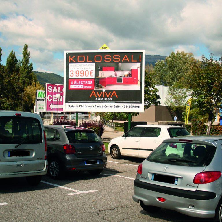 Panneau d'affichage publicitaire PAP - Isère