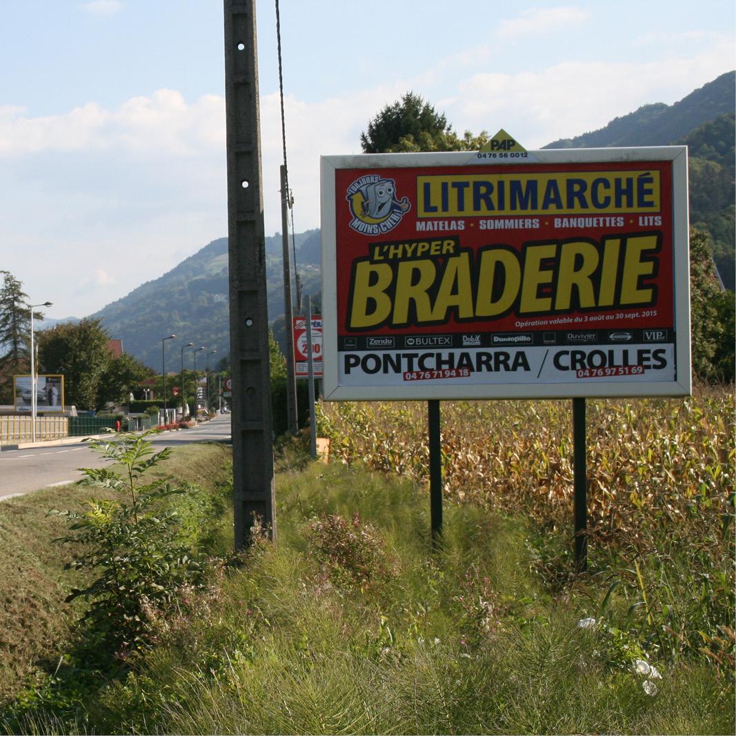 Panneau publicitaire PAP - France