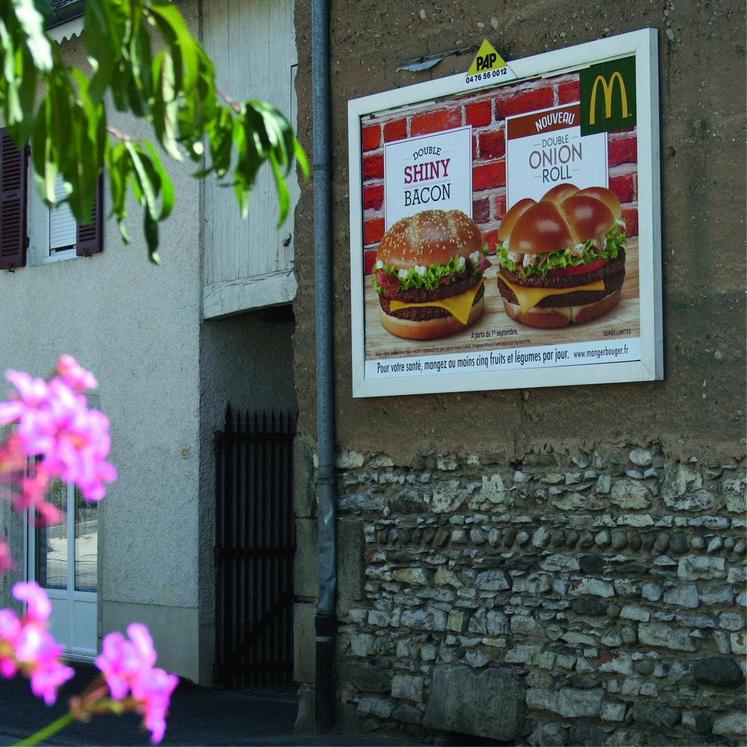 Panneau publicitaire mural PAP - Isère