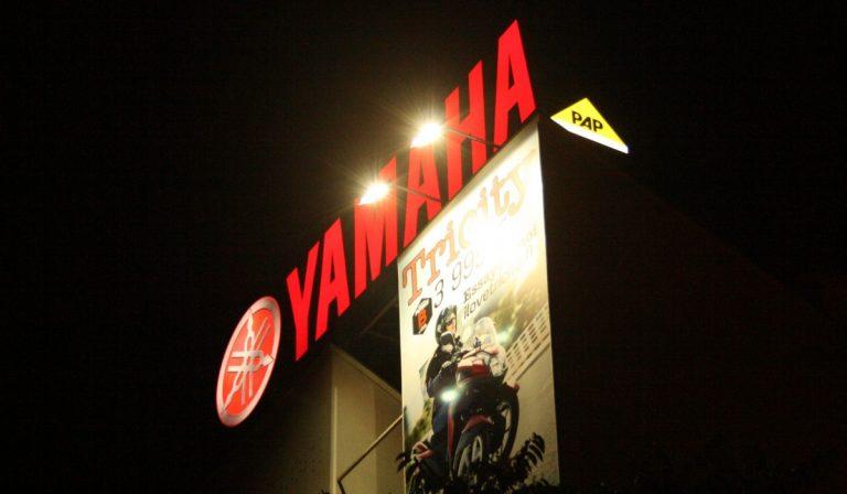 publicité grand format à Paris pour Yamaha - PAP