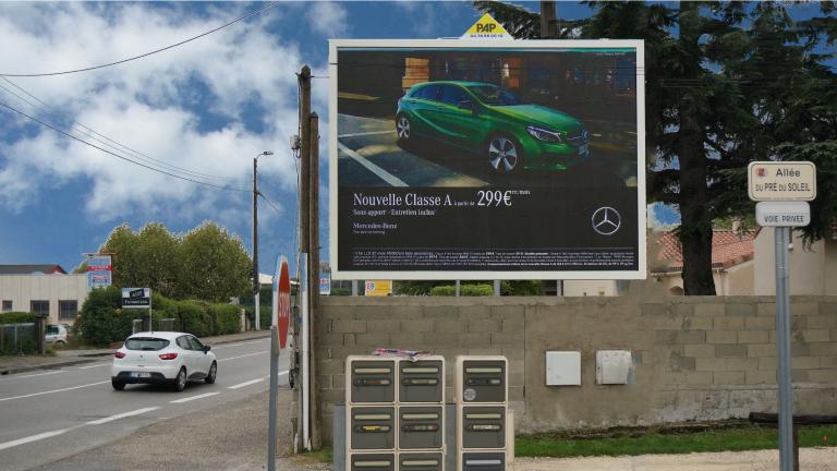 panneau publicitaire extérieur PAP - Isère