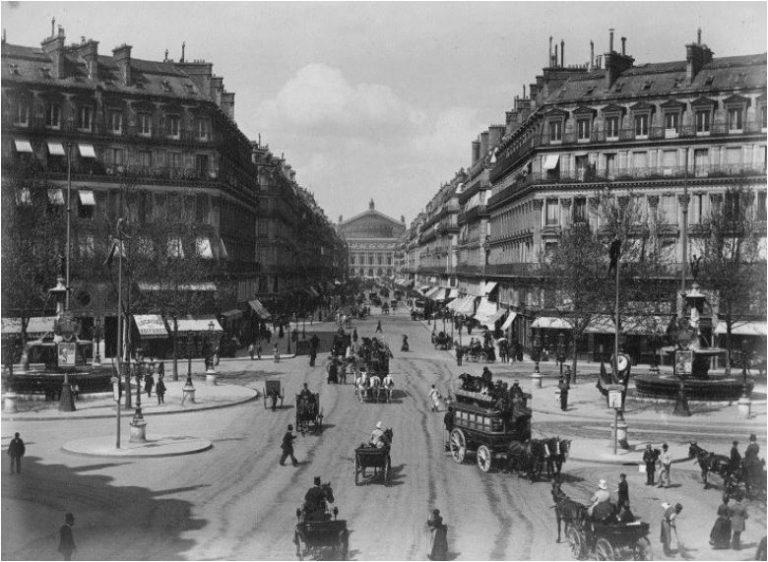Avenue de l'Opéra Paris 1890