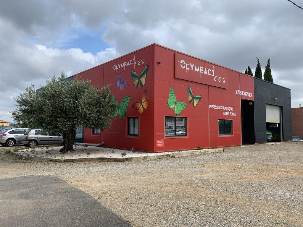 locaux de Olympact Narbonne société de communication extérieure