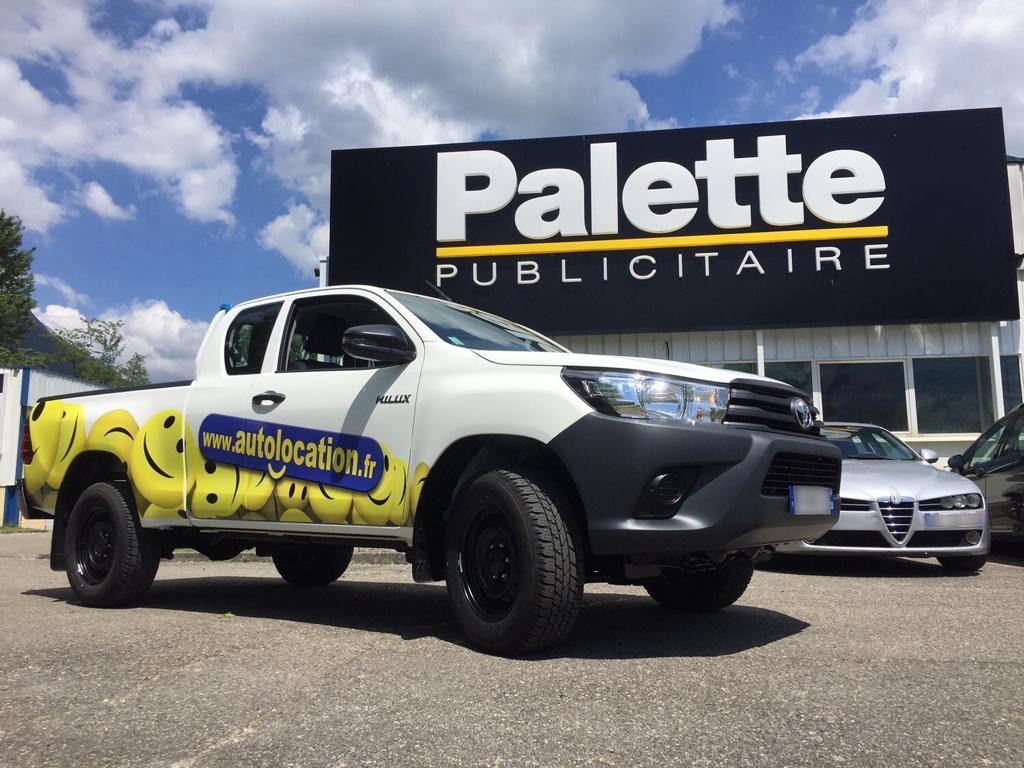 covering véhicule Palette publicitaire