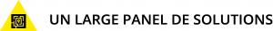 Triangle jaune PAP avec texte un large panel de solutions PAP