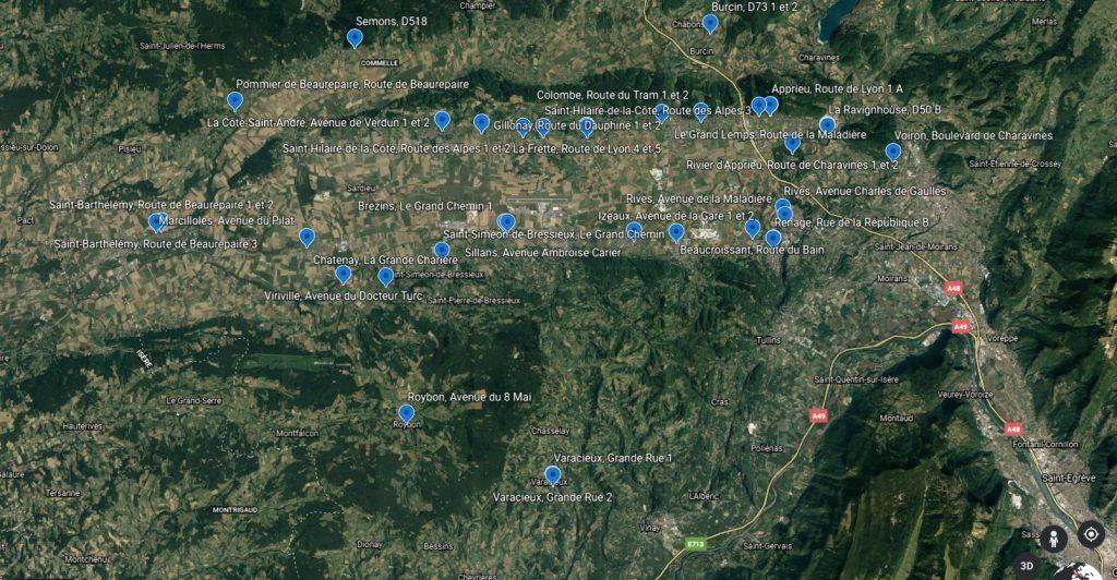 carte aérienne réseau berlioz PAP