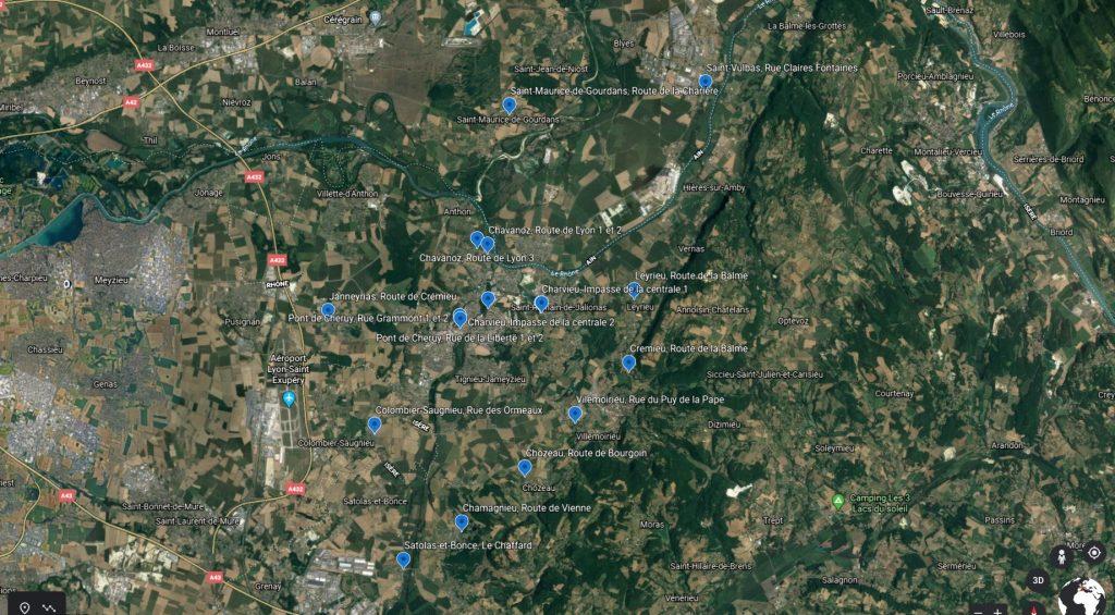 carte aérienne réseau St Jacques PAP